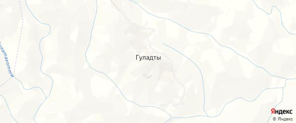 Карта села Гуладты в Дагестане с улицами и номерами домов