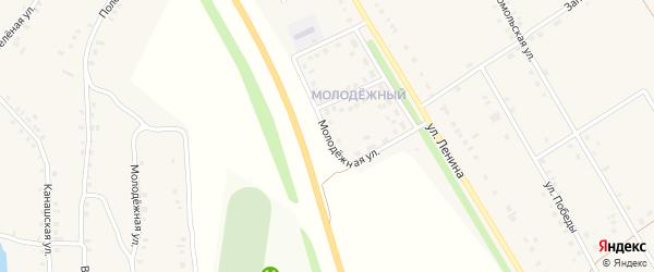 Молодежная улица на карте деревни Большие Бикшихи с номерами домов