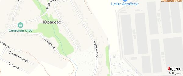 Нагорная улица на карте деревни Юраково с номерами домов