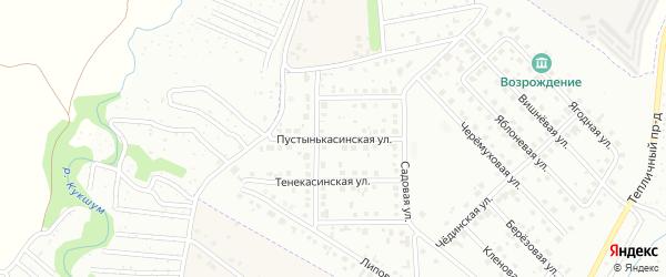 Пустынькасинская улица на карте Новочебоксарска с номерами домов