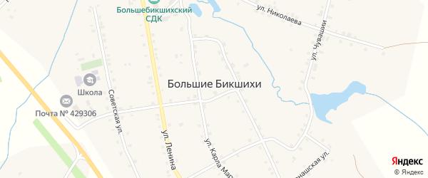 Улица Чувашия на карте деревни Большие Бикшихи с номерами домов
