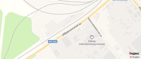 Ибресинское шоссе на карте Канаша с номерами домов