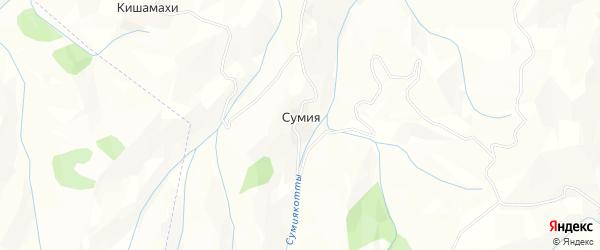 Карта села Сумии в Дагестане с улицами и номерами домов