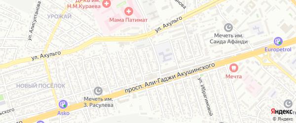А.Акушинского пр-кт 8-я линия на карте Махачкалы с номерами домов
