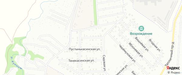 Тоскинеевская улица на карте Новочебоксарска с номерами домов