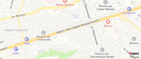 Линия 8А на карте микрорайона Кемпинга с номерами домов