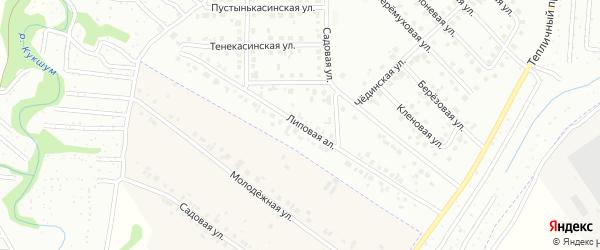 Липовая аллея на карте Новочебоксарска с номерами домов