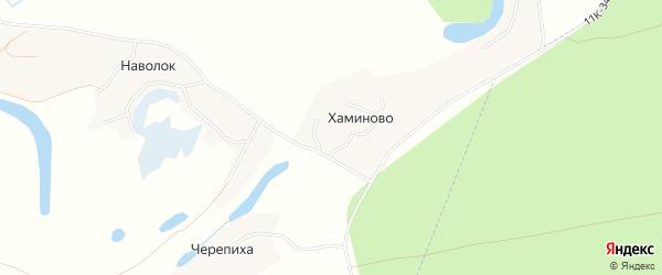 Карта деревни Хаминово в Архангельской области с улицами и номерами домов