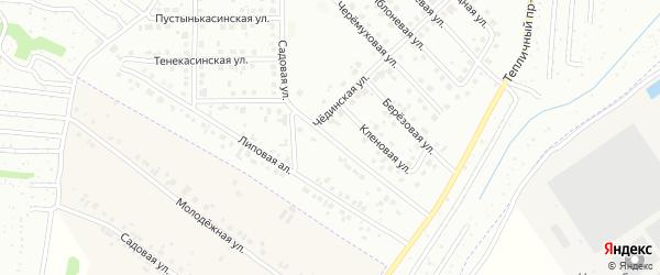 Садовая улица на карте Новочебоксарска с номерами домов