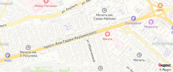 А.Акушинского пр-кт 3-я линия на карте Махачкалы с номерами домов