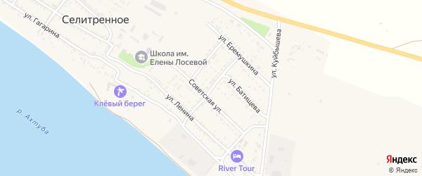 Улица Некрасова на карте Селитренного села с номерами домов