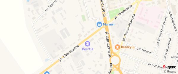 Улица Николаева на карте Цивильска с номерами домов