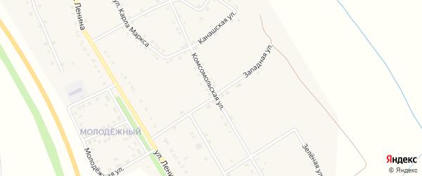 Комсомольская улица на карте деревни Большие Бикшихи с номерами домов