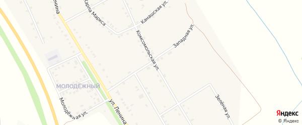 Западная улица на карте деревни Большие Бикшихи с номерами домов