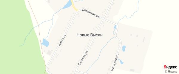 Овражная улица на карте деревни Новые Высли с номерами домов