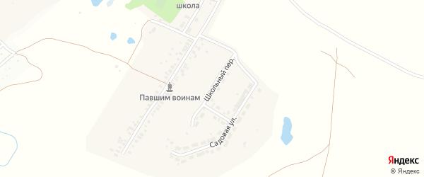 Школьная улица на карте деревни Толиково с номерами домов