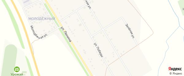 Улица Победы на карте деревни Большие Бикшихи с номерами домов