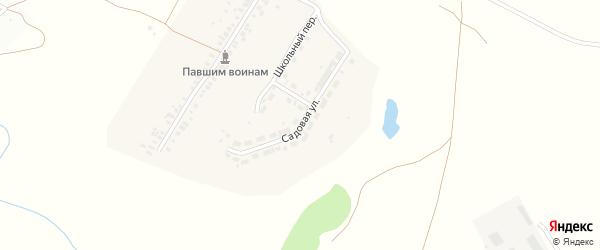 Садовая улица на карте деревни Толиково с номерами домов