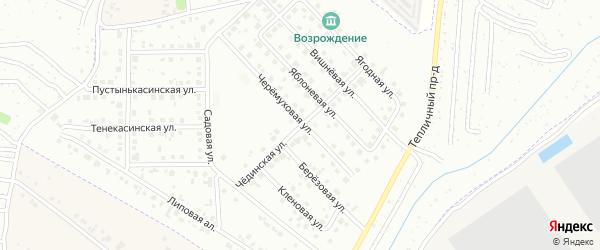 Чединская улица на карте Новочебоксарска с номерами домов