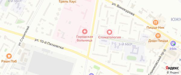 Пионерская улица на карте Новочебоксарска с номерами домов
