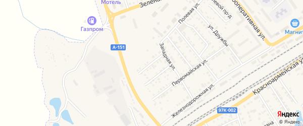 Западный переулок на карте Канаша с номерами домов
