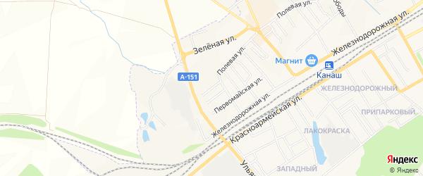 ГСК Западный-2 на карте Канаша с номерами домов