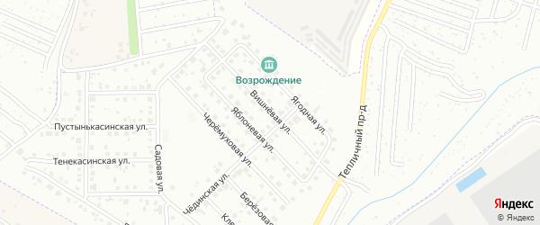 Вишневая улица на карте Новочебоксарска с номерами домов