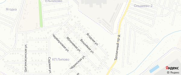 Ягодная улица на карте Новочебоксарска с номерами домов
