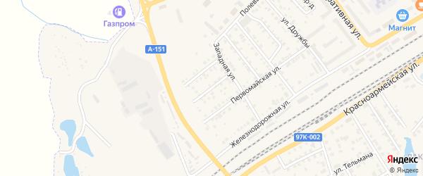 Западный проезд на карте Канаша с номерами домов