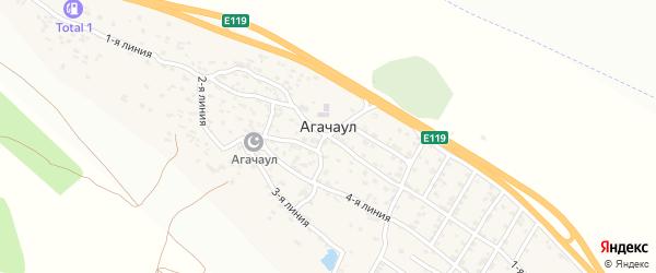 4-я улица на карте села Агачаула с номерами домов