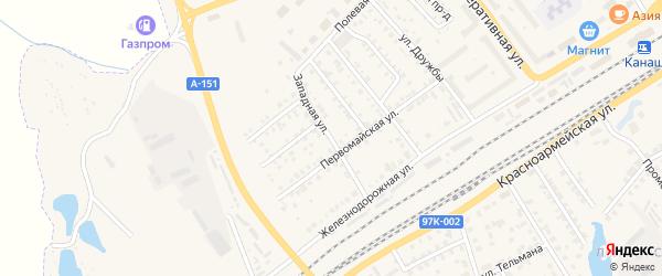 Западная улица на карте Канаша с номерами домов