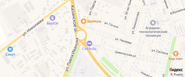 Улица Герцена на карте Цивильска с номерами домов