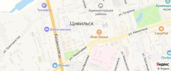 Улица Силантьева на карте Цивильска с номерами домов