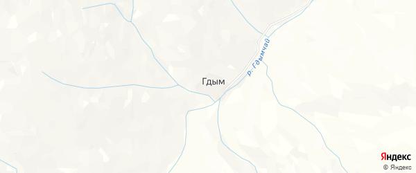 Карта села Гдыма в Дагестане с улицами и номерами домов