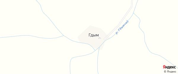Улица Алирза Саидова на карте села Гдыма с номерами домов
