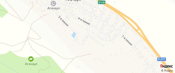 1-я улица на карте села Агачаула с номерами домов