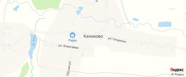 Лесная улица на карте деревни Каликово с номерами домов
