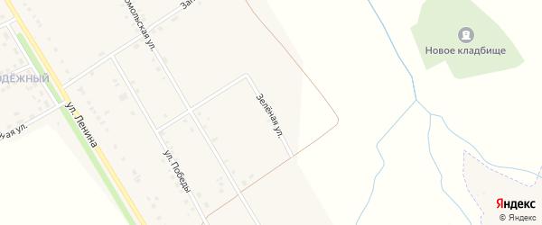 Зеленая улица на карте деревни Большие Бикшихи с номерами домов