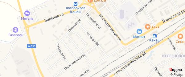 Улица Дружбы на карте Канаша с номерами домов