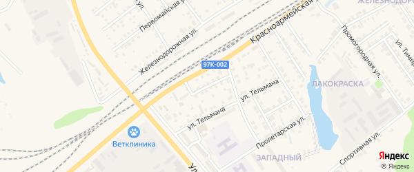 Переулок Куйбышева на карте Канаша с номерами домов