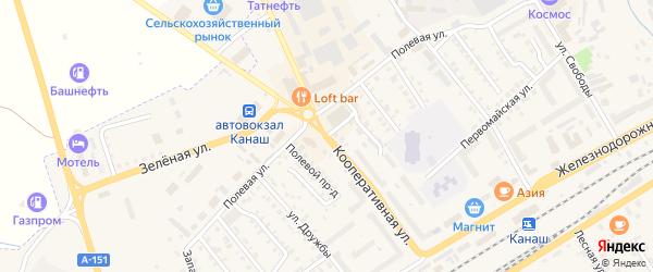 Кооперативная улица на карте Канаша с номерами домов