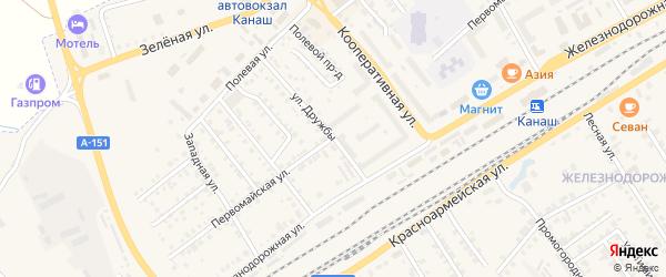 Первомайская улица на карте Канаша с номерами домов