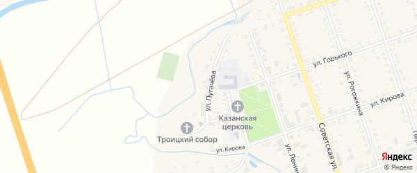 Улица Пугачева на карте Цивильска с номерами домов