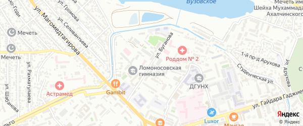 Озерная улица на карте Махачкалы с номерами домов