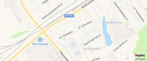 Улица Тельмана на карте Канаша с номерами домов