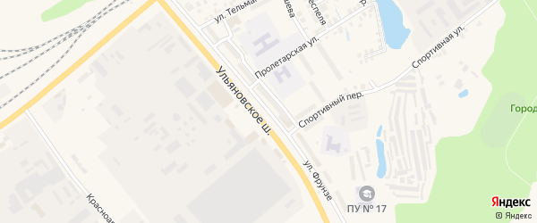 Улица Фрунзе на карте Канаша с номерами домов