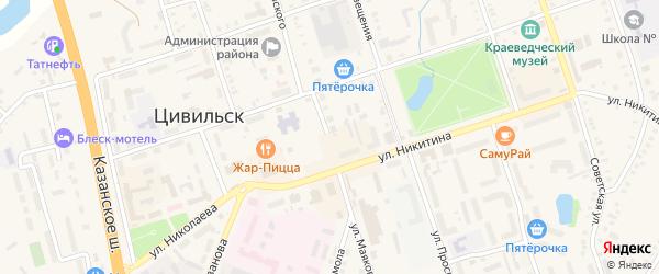 Улица Маяковского на карте деревни Первые Вурманкасы с номерами домов