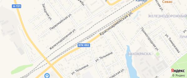 Красноармейская улица на карте Канаша с номерами домов