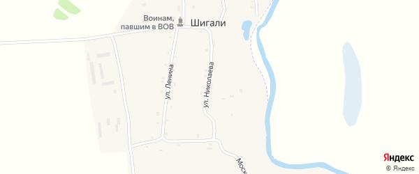 Пионерская улица на карте села Шигали с номерами домов