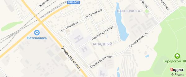 Пролетарская улица на карте Канаша с номерами домов